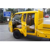 Wholesale Double Cab Electric Transport Truck , 48V Electric Tow Tractor Yellow Color from china suppliers