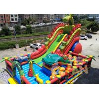 Buy cheap Animal World Theme Inflatable Jungle Bounce Playground Combo For Commercial Rental from wholesalers