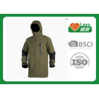 Wholesale Olive Color Waterproof Rain Jacket For Hiking / Fishing / Hunting from china suppliers