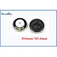 Wholesale 16mm 16 Ohm Mini Mylar Speaker Portable Wireless 90 Sound Press Level from china suppliers