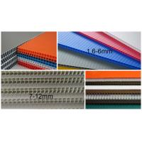 Quality 2440x1220mm 3mm 4mm polypropylene corrugated plastic sheet , Flute PP Sheet for sale