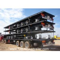 Wholesale 20ft 45ft 48ft Flatbed semi trailer 2 axles / 3 axles with Bulk head / Front wall equipped from china suppliers