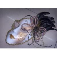 Wholesale Venetian Masquerade Carnival Half Face Flower Lace Peacock Feather Mask from china suppliers