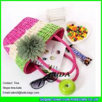 Wholesale LUDA colorful straw purses wholesale cornhusk straw woven bags from china suppliers