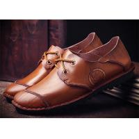 Mark Thread Genuine Leather Formal Shoes For Men Customized Color Flat Heel