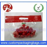 Wholesale Slider Ziplock Fruit Packaging Bag Air Holes For Grape Packaging Bag from china suppliers