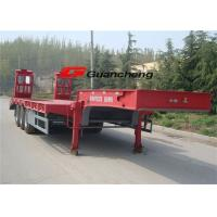 Wholesale 2 / 3 Axle Low Bed Semi Trailer For Heavy Duty Equipment Trailers ISO CCC from china suppliers