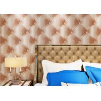 Wholesale Luxury Grey European Style Wallpaper ,  3D Effect Leather Pattern Wallpaper from china suppliers