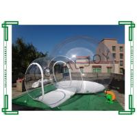 Wholesale Customized Clear Inflatable Bubble Tent Inflatable Transparent Tent With Tunnel from china suppliers