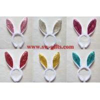 Wholesale children adult pink gold Easter Party decoration/rabbit ear/Sequin Bunny ear headband/flashing headband from china suppliers