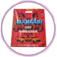 Wholesale Imprinted Die Cut Handle Bags With Colorful Printing , Red / Orange from china suppliers