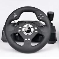 Quality wired video game steering wheel car gaming racing wheel game controller for PS3, PS2, PC(Direct-X & X-INPUT), dual vibra for sale