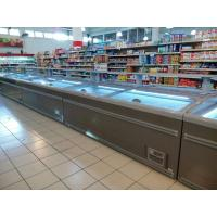 Wholesale 8 Ft Large Supermarket Freezer Sliding Glass Door Freezer For Chicken Storage from china suppliers