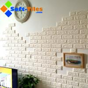 Quality 3D Brick Thicken Soft PE Foam Wall Sticker Panels Wallpaper Decor Stone Marble colour for sale
