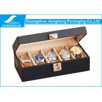 Wholesale Golden Lock Design Watch Gift Boxes With PU Leather And Wood Material from china suppliers