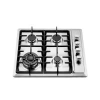 Wholesale 4 Burner Gas Hob Stainless Steel , Auto Ignition Gas Hob 580 X 500 Mm from china suppliers