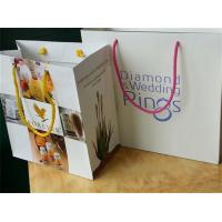 Wholesale Recycled Luxury Jewelry White Custom Printed Paper Bags With Ribbon Handle from china suppliers
