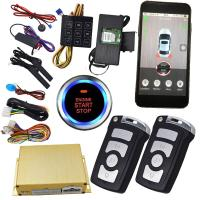 Wholesale GPS Tracking Smartphone Car Alarm With Passcode Keyless Entry Central Lock Door Auto Start Stop Button from china suppliers