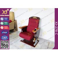 Wholesale Antique Golden Paint Veneer Theatre Seating Chairs With Solid Wood Armrest / Cup holder from china suppliers
