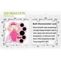 European Digital Bath Thermometer For Babies / PVC Floating Baby Thermometer Bath Card
