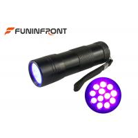 Wholesale 12 LEDs Black Light 395NM UV LED Flashlight for Nail Polish, Scorpion Hunt from china suppliers