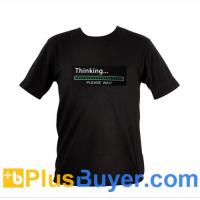 Wholesale Sound Activated EL T-Shirt - XL (Thinking... Please Wait) from china suppliers