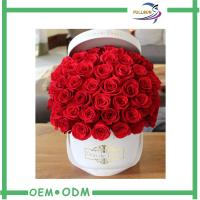 Wholesale Romantic Flower Gift Boxes Round Shaped for Wedding / Party Flower Packaging from china suppliers