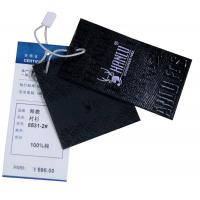 Wholesale Black Fake Leather Paper Clothing Hang Tags For Men
