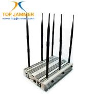 6 Bands 90W 15w/band Desktop Jammer Blocker GSM DCS 3G 4G LTE Wimax UHF VHF Radio 315 433