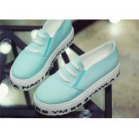Wholesale Light Blue Platform Canvas Sneakers Shoes Women'S Canvas Slip Ons With Elastic Band from china suppliers