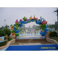 Wholesale Water Theme Park Rainbow Water Entrance W6 * H3m Aqua Waterfall from china suppliers