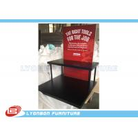 Wholesale Black Knives display stand with 2 shelves and 4 metal support tubes and foam board from china suppliers