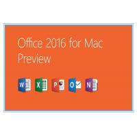 Wholesale Home and Business Microsoft Office Professional 2016 Product Key for Mac Genuine license installation from china suppliers