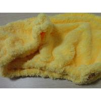 Wholesale 20*50 Yellow Colorful Microfiber Hair Turban , Elastic Crystal Button Hair Dry Cap from china suppliers