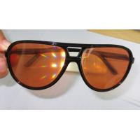 Wholesale Amber Plastic Diffraction Glasses Aviator Style With Spiral Effect from china suppliers
