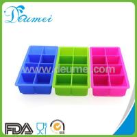 Buy cheap Food Grade Silicone Square Shape Ice Cube Tray with 8 Cavities mold from wholesalers