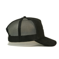 Wholesale custom-made 3D embroidery 5 panel suede trucker cap with plastic buckle from china suppliers