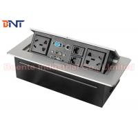 Wholesale Zinc Alloy Tabletop Hidden Desk Pop Up Power Sockets Box, 3-Pin Power Plug and HDMI Port from china suppliers