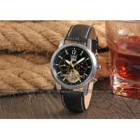 Wholesale Jargar Genuine Leather Band Geatlemen Mens Automatic Watch Black Dial from china suppliers