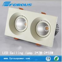 Wholesale Commercial household lighting double-headed deep glare LED grille lamp 2 * 10 w/2*18W from china suppliers