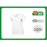 Wholesale Women Plain White T Shirt Slim , Lightweight T Shirts Quick Dry from china suppliers