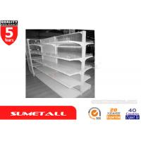 Wholesale PVC Backing Panel Gondola Store Shelving / Pharmacy Gondola Shelving Multi Layers from china suppliers
