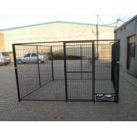 Wholesale 1.5m x 2.0m x 2.0m full hot dipped galvanized dog 10X10X6ft Temporary Dog Fence For Sale Galvanized Chain Link Dog Kenne from china suppliers