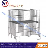 Wholesale Standard Flolding Wire Dump Bins For Supermarket / Warehouse 800x800x800mm from china suppliers