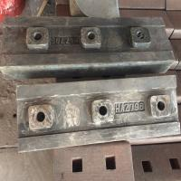 Buy cheap Hazemag APK795 APK 796 Blow bars Impact crusher spare parts High Chrome High maganese steel crusher parts from wholesalers