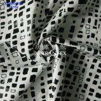 Wholesale F5704 lady fashion fabric poly chiffon satin 50DX50D foil finihsing from china suppliers