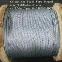 """Wholesale Multifunctional Galvanized Steel Wire Strand , 3 /8 """"Galvanized Aircraft Cable For Messenger from china suppliers"""