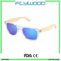Wholesale Bamboo temple white frame for women 2016 wholesale hand made engrave logo bamboo sunglasses wooden sunglasses from china suppliers