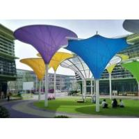 Wholesale Colorful Tensile Fabric Structures , Roof Shade Structures For Park Shade Metal Frame from china suppliers