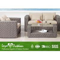Quality Water - Repellent Patio Outdoor Furniture 1+ 2 + 1 Rattan Sofa Set With Pillow for sale
